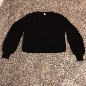 Balloon sleeve black h and m sweater in small